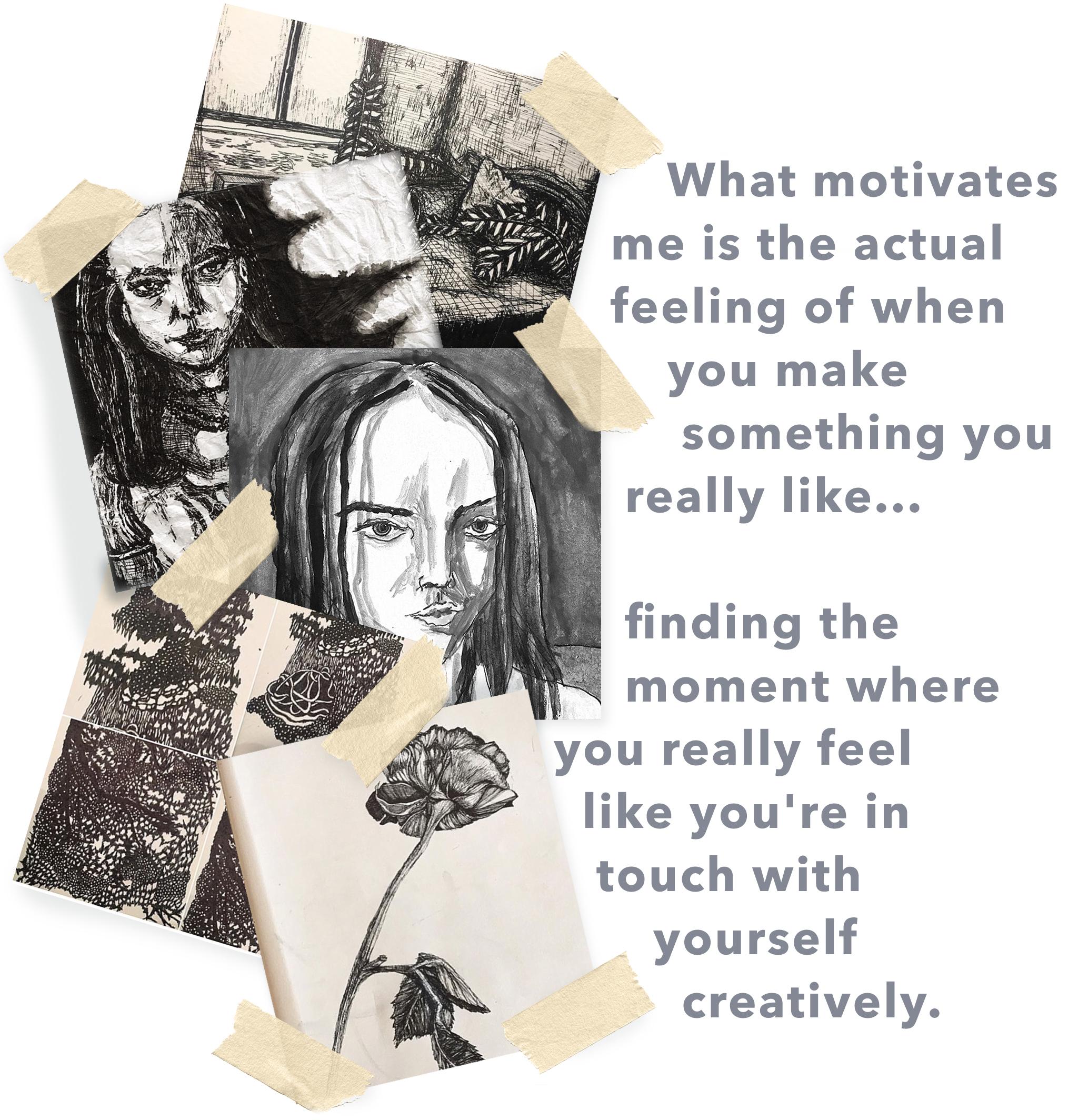 Em artwork & quote