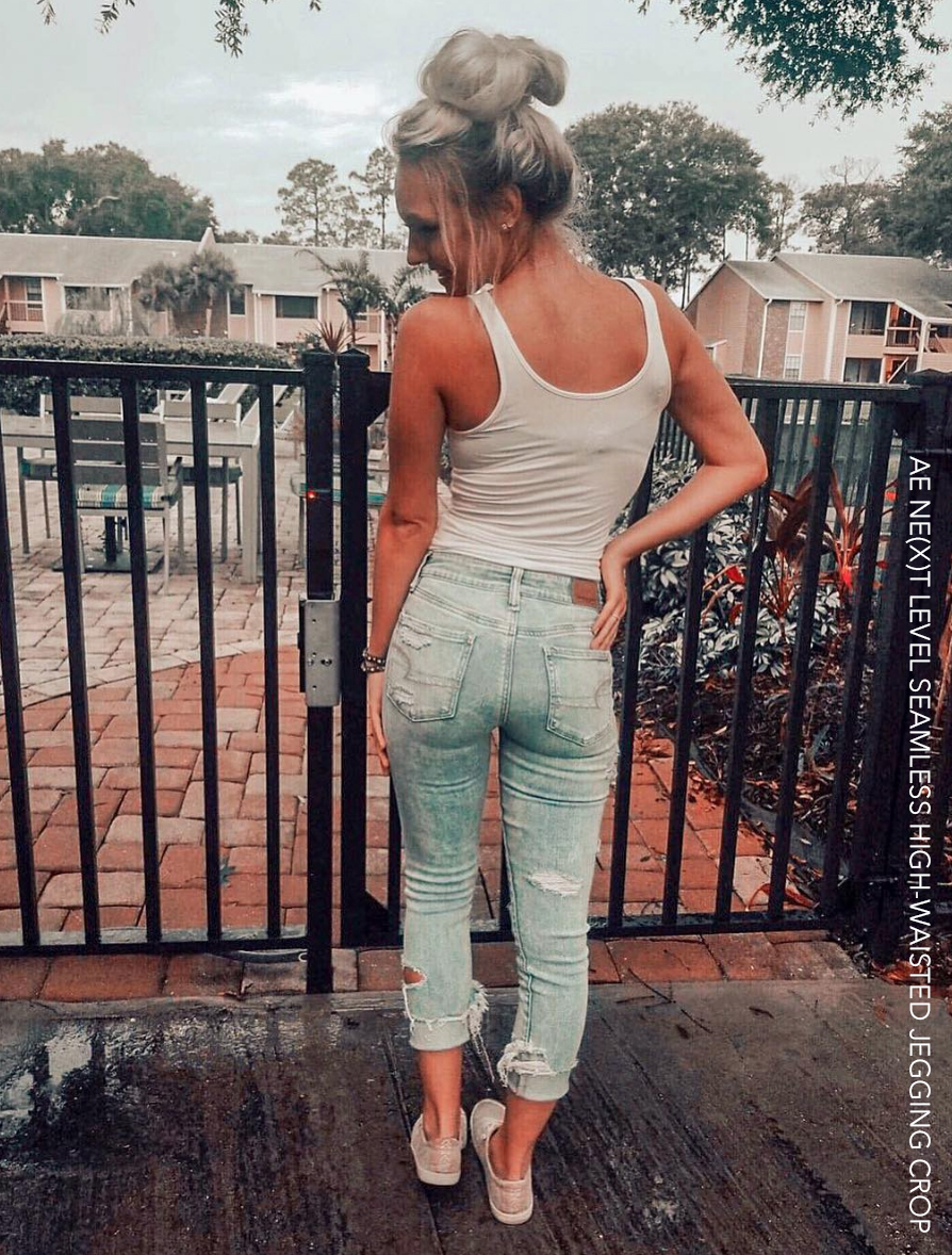 AE NE(X)T LEVEL SEAMLESS HIGH-WAISTED JEGGING CROP