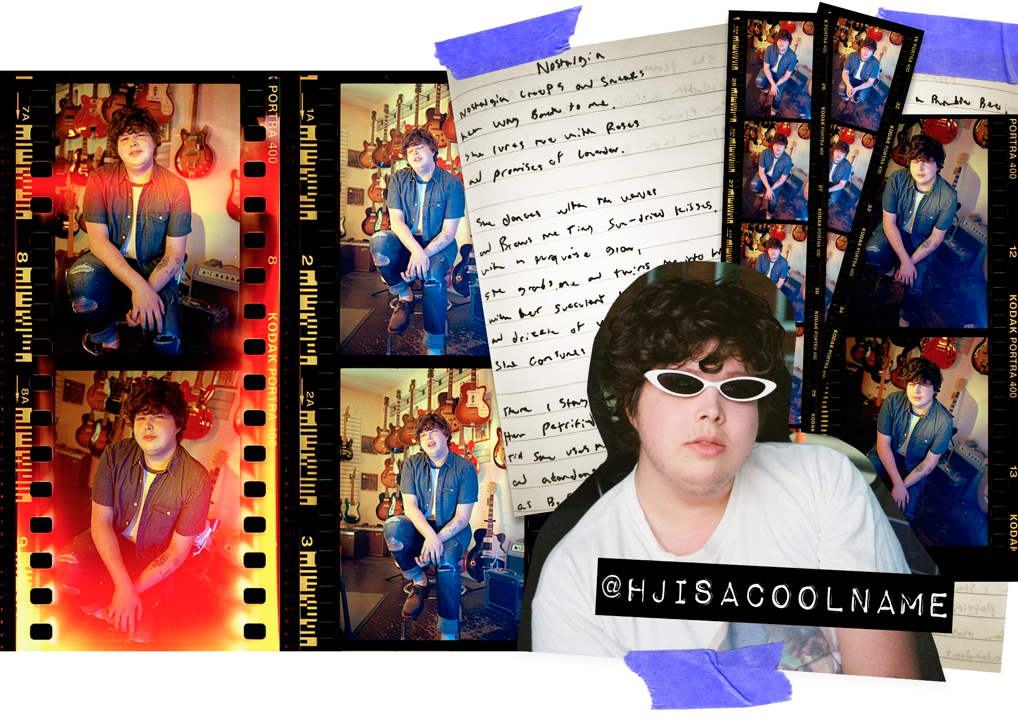 @Hjisacoolname instagram handle & film strips