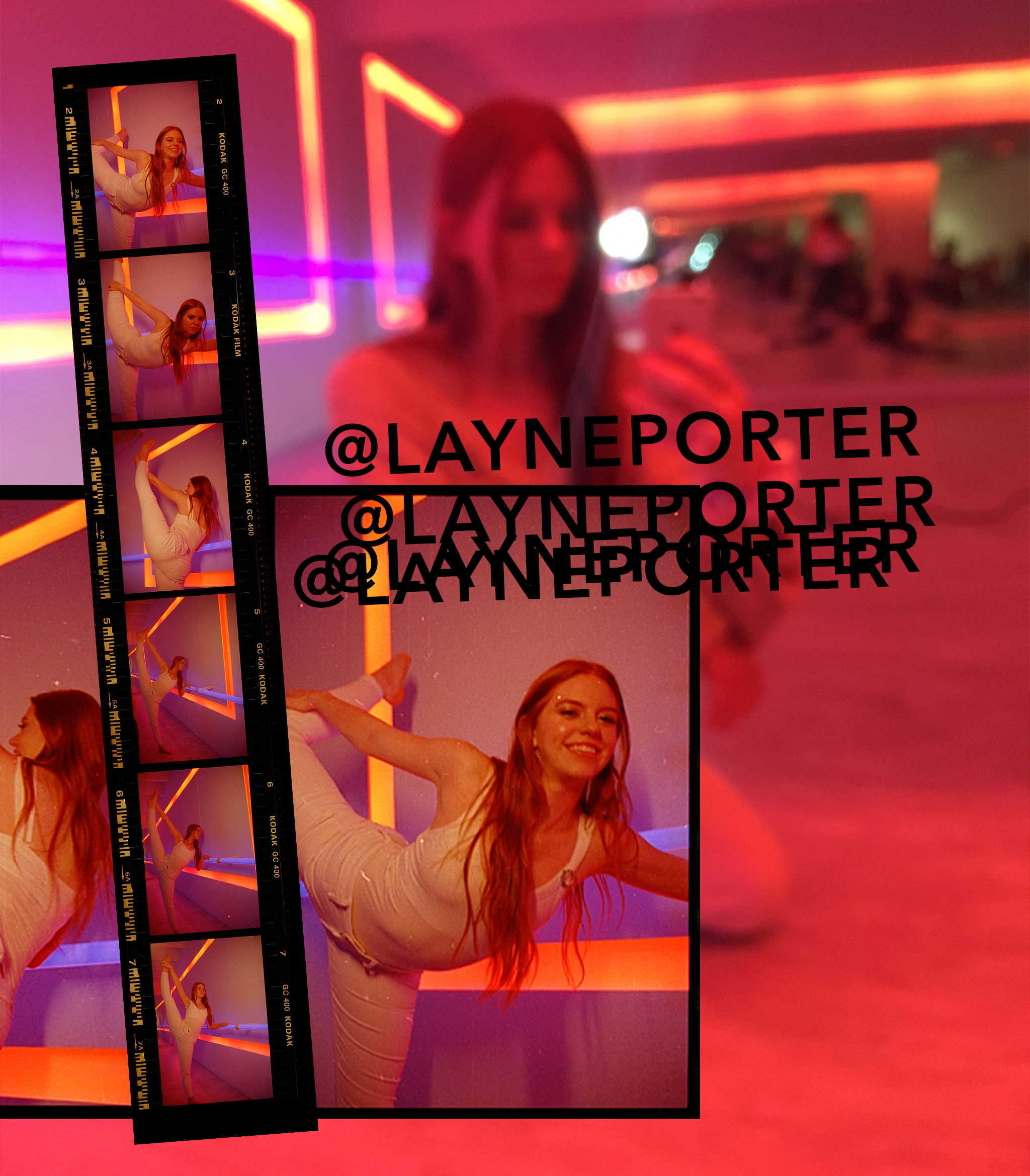 @layneporter instagram handle & film strips