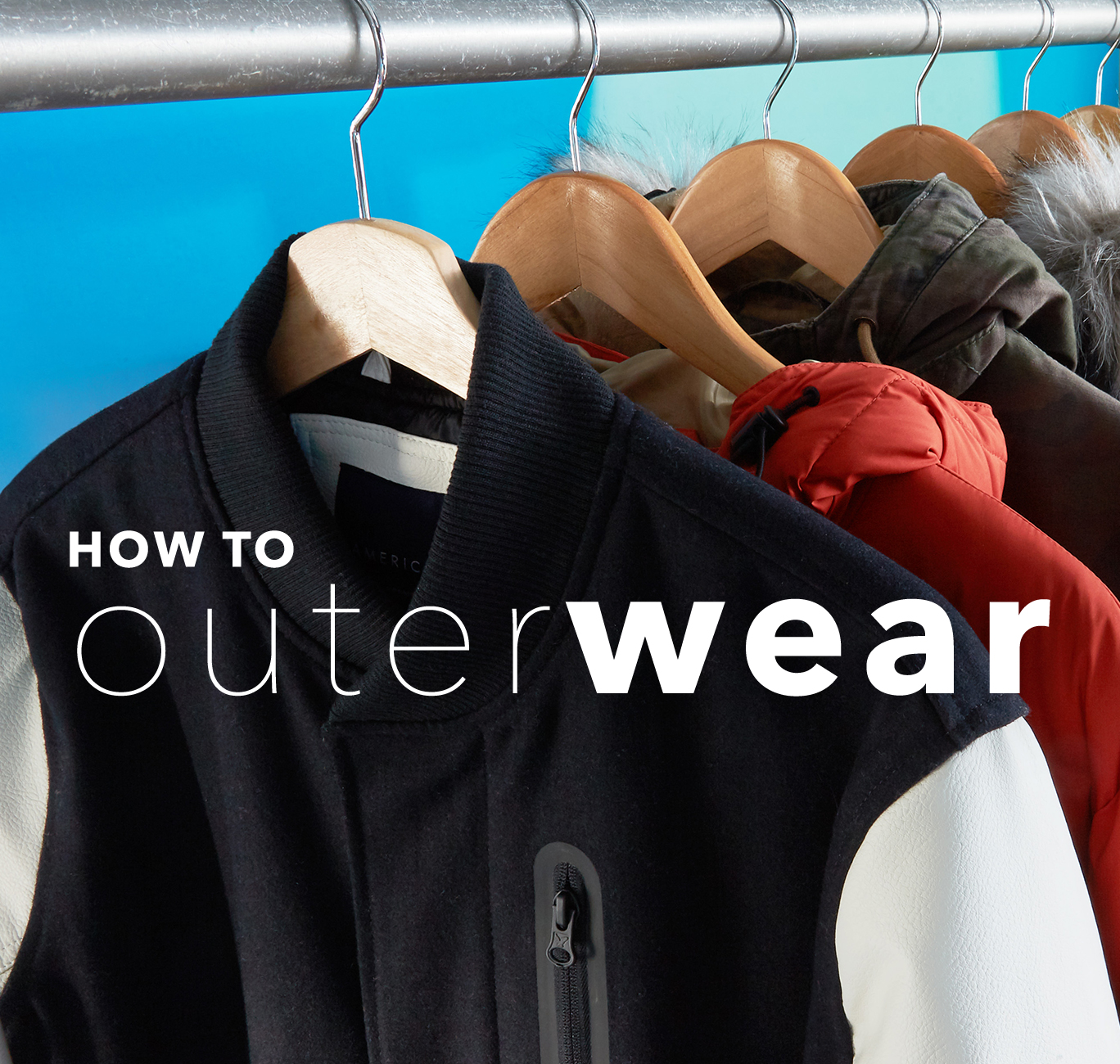 assortment of AE outerwear product
