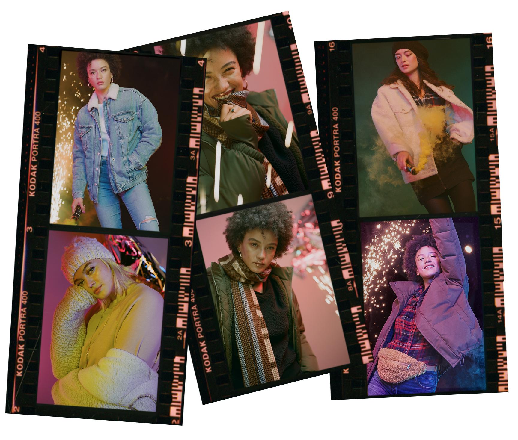 assortment of AE jackets & coats