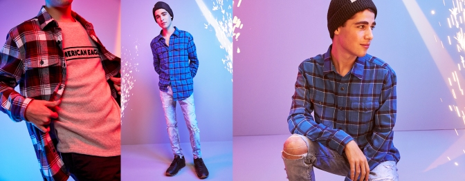AE Plaid & Flannel Shirts
