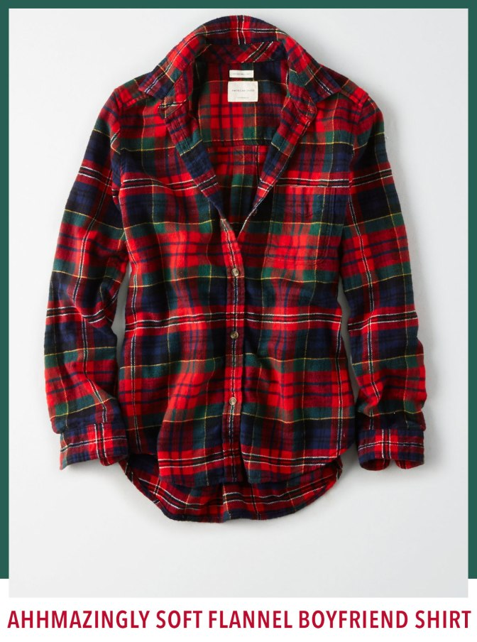 AE AHHMAZINGLY SOFT FLANNEL BOYFRIEND SHIRT