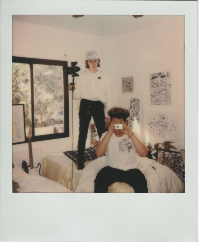 polaroid of Thoreau & Tony