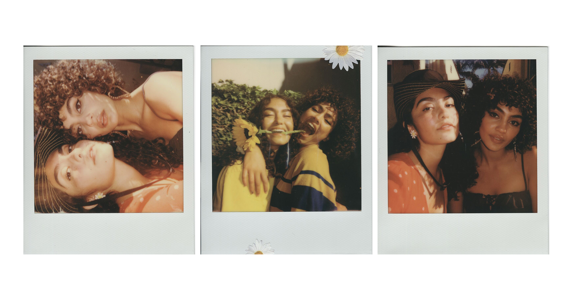 multiple polaroids of andy & mariana