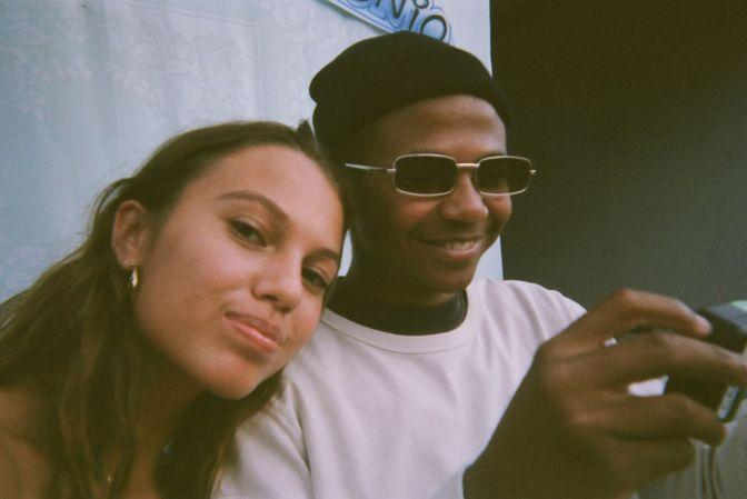 film photos of cailee & antonio