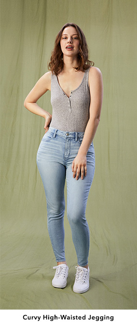 Curvy High-Waisted Jegging
