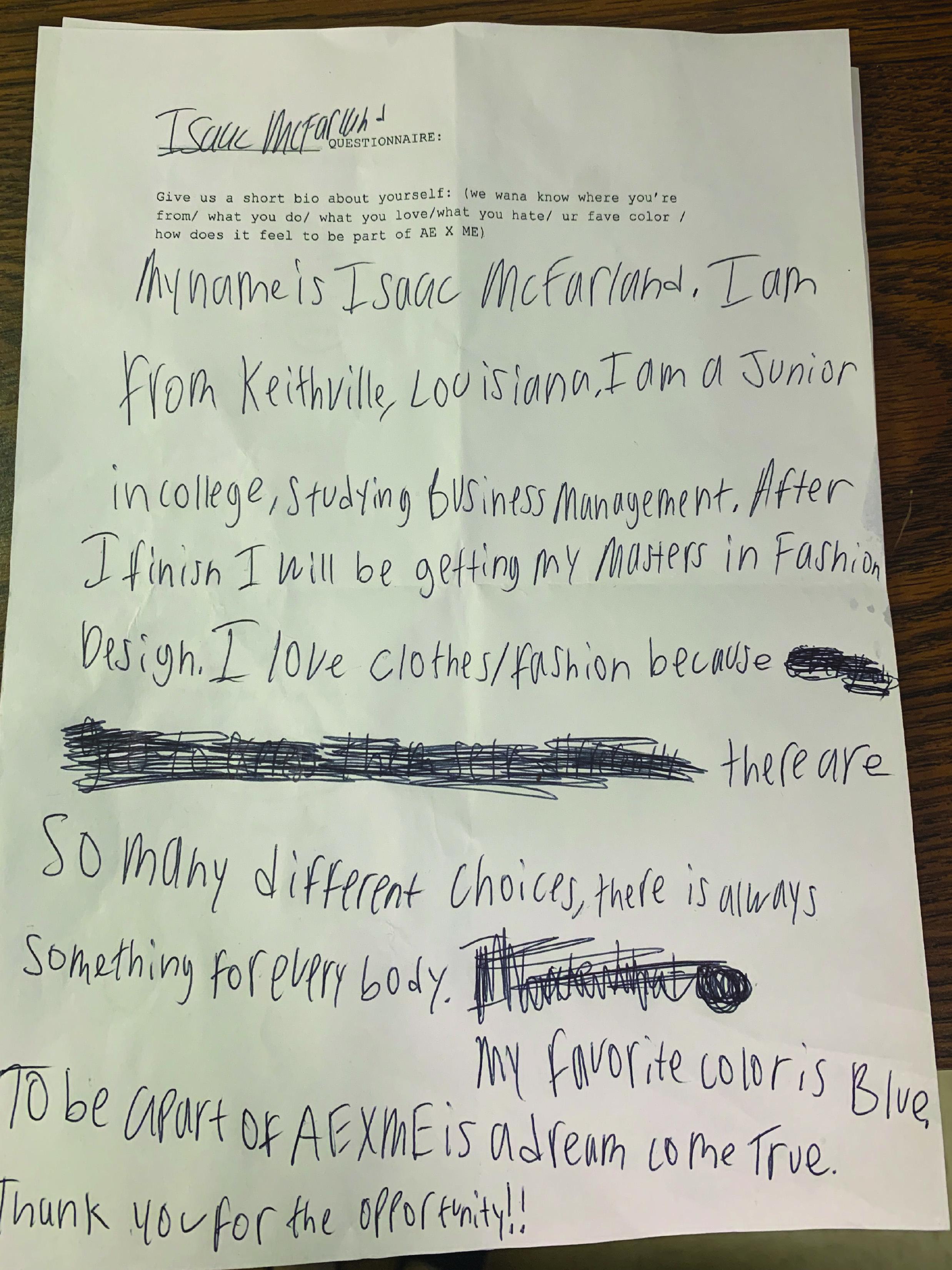 handwritten bio of @ablackfarmer