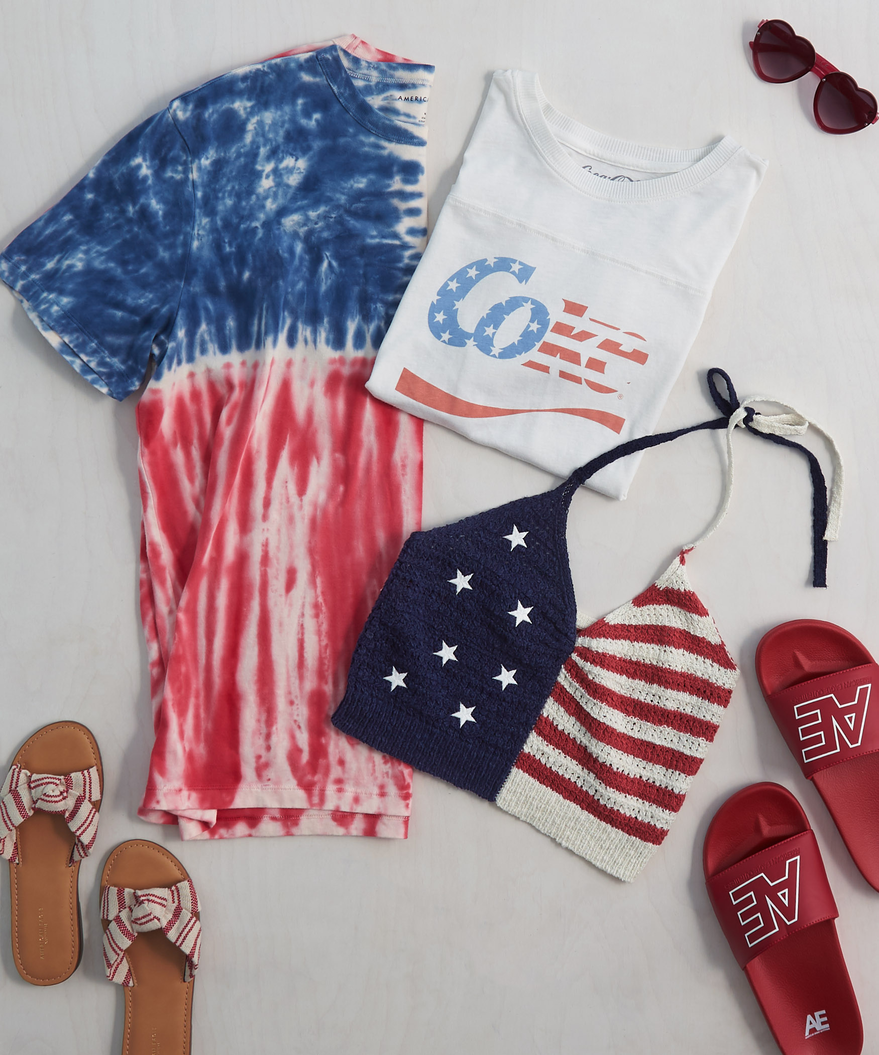 REd, White & Blue AE Women's Tops
