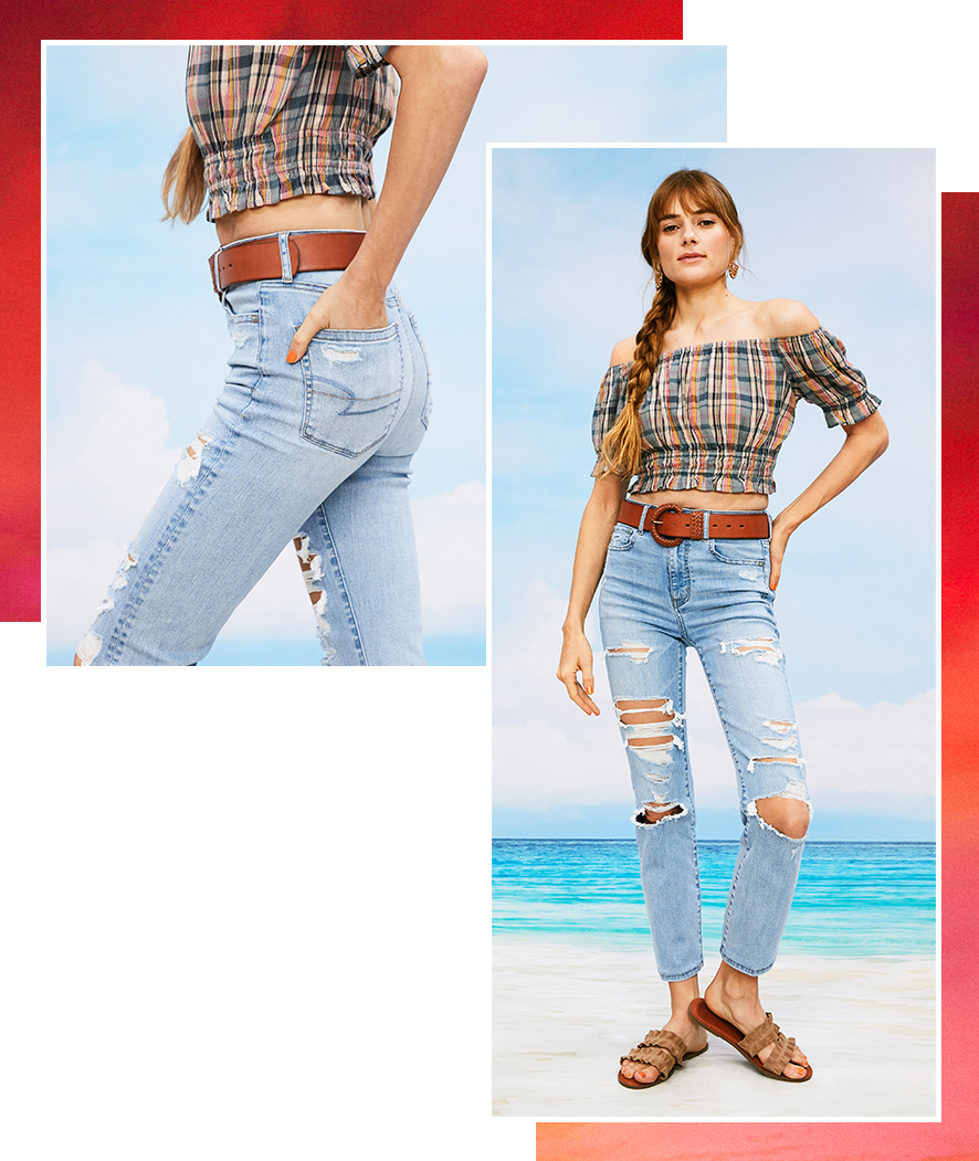 AE cropped jeans